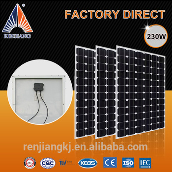 solar module for solar grid system 230wp mono pv solar panel