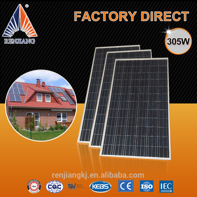 45.29 Voc Solar Panel Cell,305W Solar Panel Cell