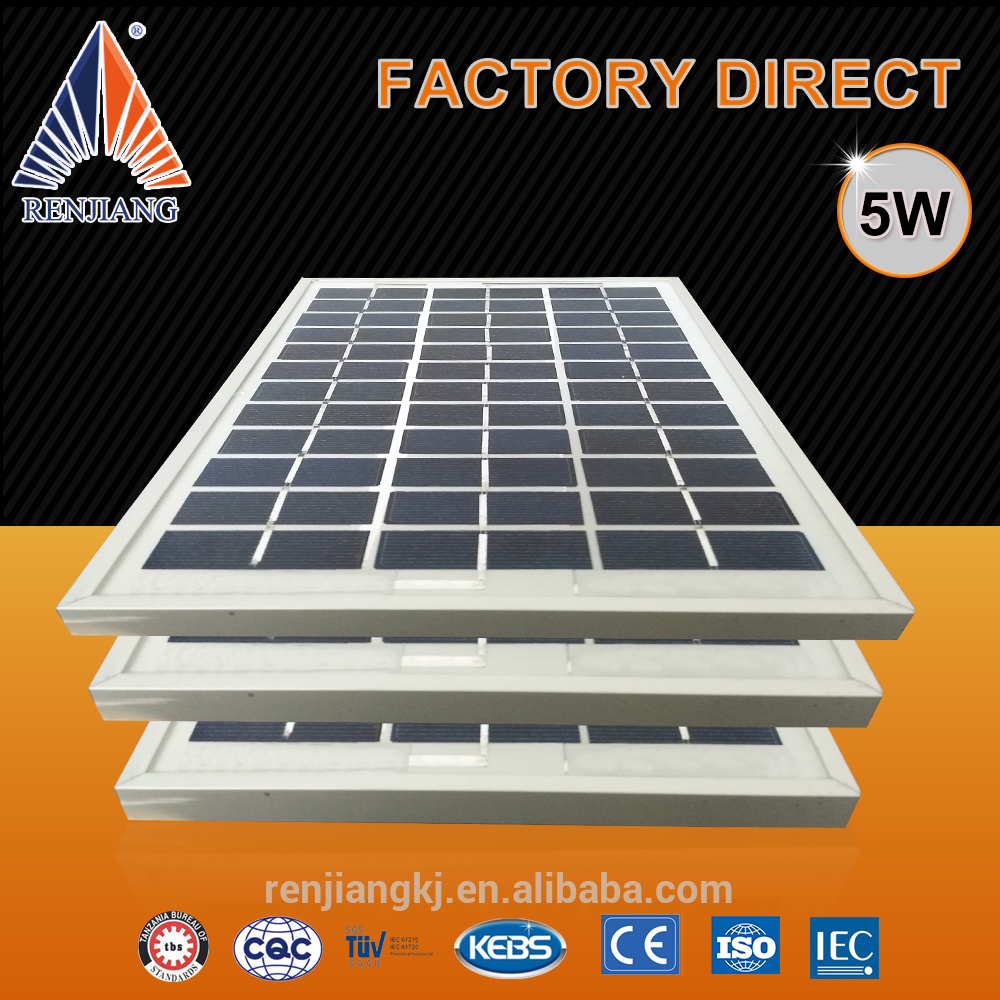 poly solar panels 5 watt manufacturer from China with lower price