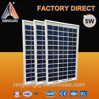 High efficiency 5W poly solar panel
